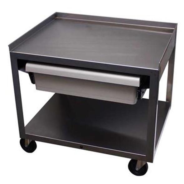 MC221ED  Stainless Cart w/ Drawer