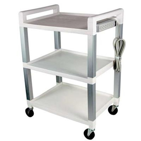 UC320P  Poly- Aluminum Basic utility cart with power