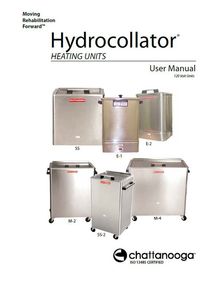 Chattanooga Hydrocollator User Manuals - PDF Download