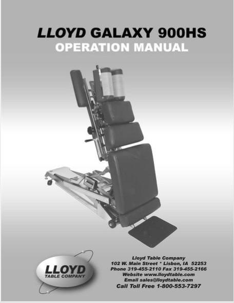 Lloyd Galaxy 900HS Operation Manual - PDF Download