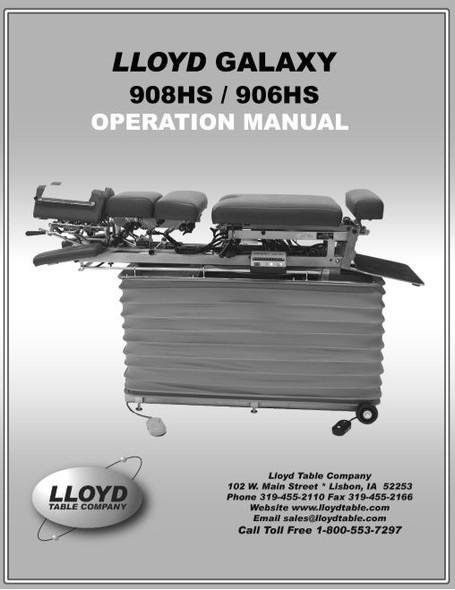 Lloyd Galaxy 908HS/906HS Operation Manual - PDF Download