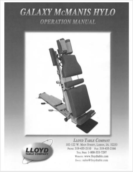 Lloyd Galaxy McManis Hylo Operation Manual - PDF Download