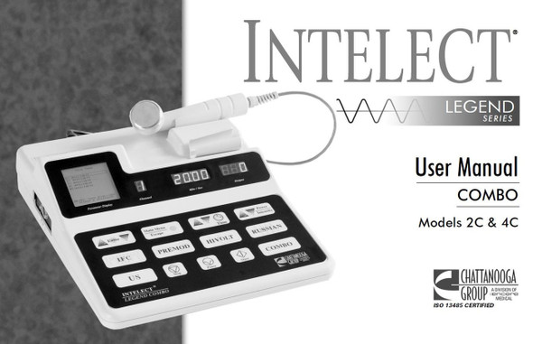 Chattanooga Intelect Legend 2C & 4C User Manual - PDF Download