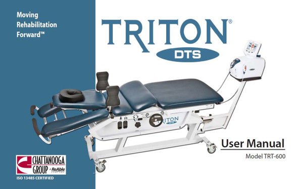 Chattanooga Triton DTS 600 User Manual - PDF Download
