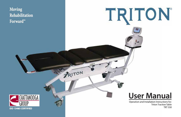 Chattanooga Triton DTS 550 User Manual - PDF Download