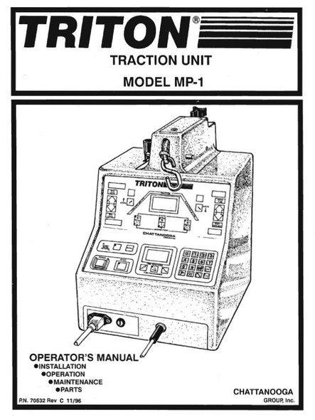Chattanooga Triton MP1 Traction Unit Operator's Manual - PDF Download