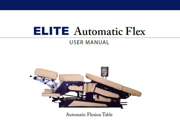 Elite Automatic Flexion User Manual - PDF Download
