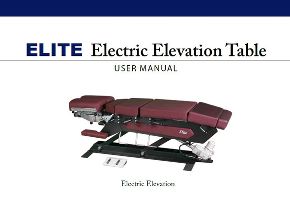 Elite Electric Elevation User Manual - PDF Download