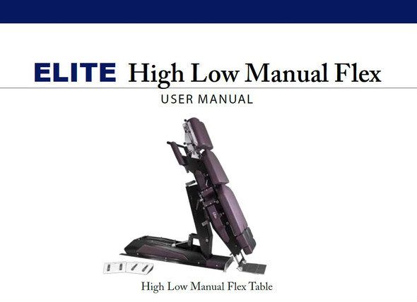 Elite High Low Manual Flexion User Manual - PDF Download