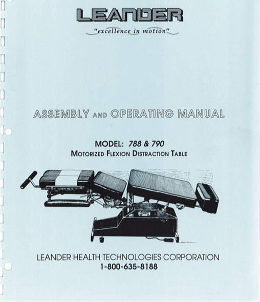 Leander 788 & 790 Series Assembly & Operating Manual - PDF Download