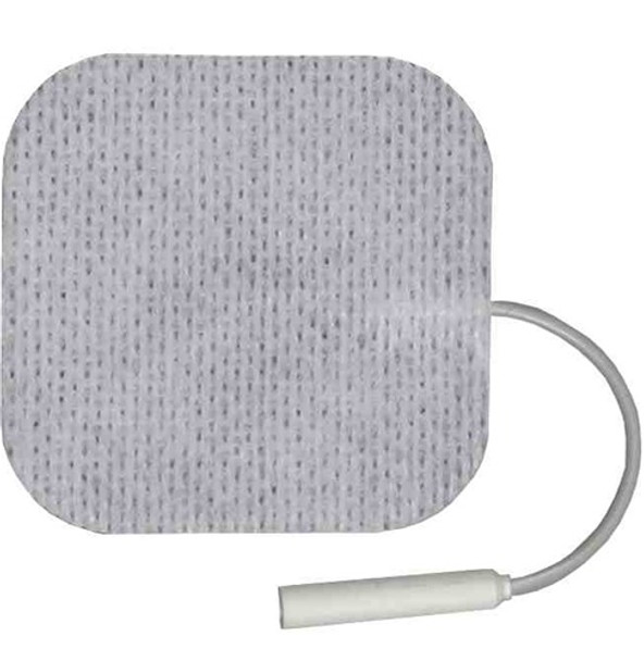 """BF2 Electrodes White Cloth 2"""" X 2"""" Square  Qty 4 Electrodes per pack"""