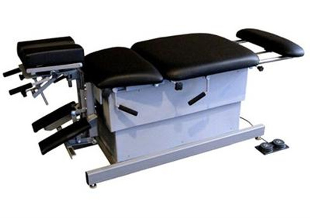 DC-2001BH   Chiropractic Elevation Table-Includes 3 drops Thoracic and Pelvic Drop and Elevating Headpiece with Forward Toggle drops, lateral bending