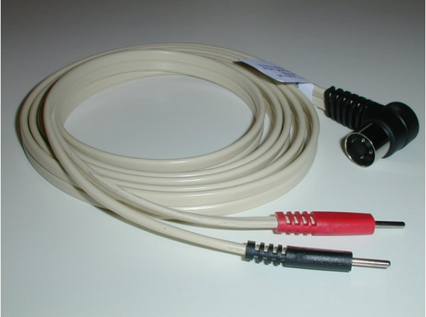 Replacement Leads for METTLER COMPATIBLE RIGHT ANGLE 3-PIN DIN TO DUAL PINS