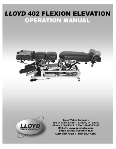 Lloyd 402 Flexion Elevation Operation Manual - PDF Download