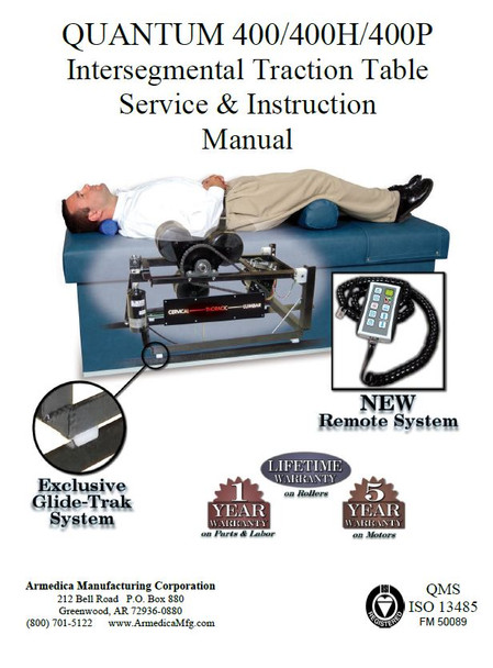 Armedica Quantum 400 IST Service & Instruction Manual - PDF Download