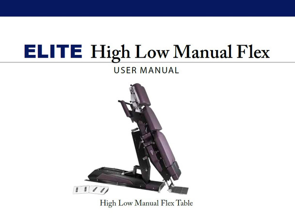 Elite High Low Manual Flexion User Manual - PDF Download