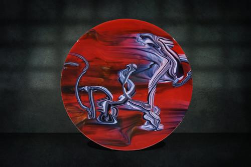 Artistic representation of a legendary dragon in flight.