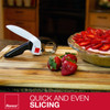 """Ronco Handi Slicer for Fruit and Vegetable Chopping, 1.5"""" Slicer, Black & White"""