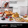 Gemelli 2LB Artisan Bread Maker, Stainless Steel w/ Digital Display and 21 Functions, Fruit/Nut Dispenser, 3 Loaf Sizes, 3 Crust Shades, Gluten-Free and Vegan Settings, Non-stick, Includes 22 Recipes