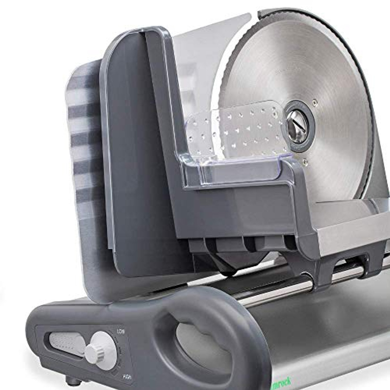 Shamrock X-Large 8.5 Stainless Steel Food Slicer w//Speed Control