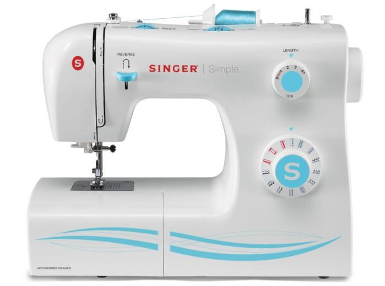 Singer Sewing Machine Simple, 23 Built-In Stitches and Four Step Buttonhole  Model #2263 REFURBISHED