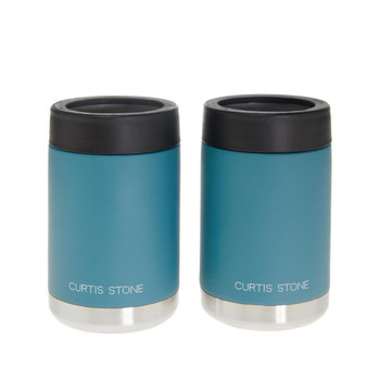 Curtis Stone Set of 2 12 oz. Double-Wall Insulated Coozies