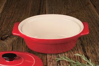 "Artisan Series Bakeware MONET 10"" Covered Oval Casserole"