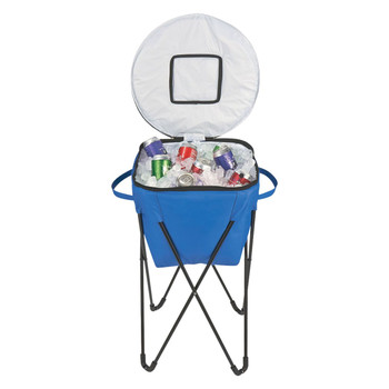 Blue Outdoor Collapsible  Nylon Stand-Up Cooler