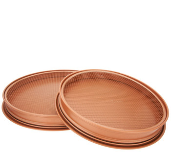 "Copper Chef 12"" and 15"" Perfect Pizza and Crisper Pans - Renewed"