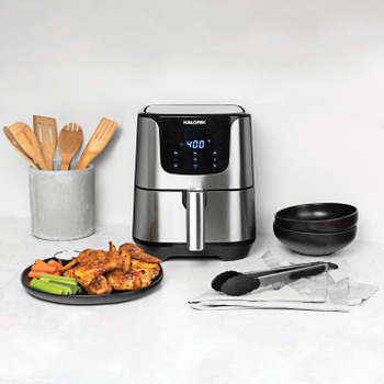 KALORIK 3.5 QUART DIGITAL AIR FRYER PRO, STAINLESS STEEL