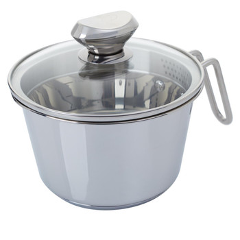 Wolfgang Puck 6-Cup Stainless Steel Pot with Colander Lid Model 696-792