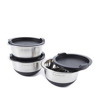 Wolfgang Puck 6-piece Non-Skid Stainless Steel Mini Mixing Bowl Set