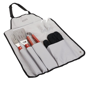 Wolfgang Puck 7-piece BBQ Utensil Set with Apron