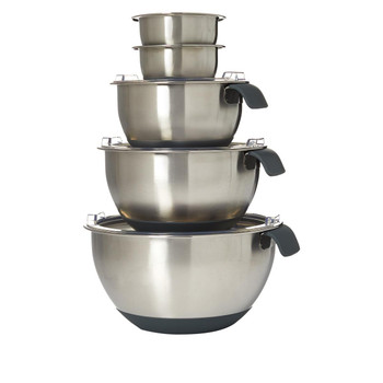Wolfgang Puck 13-Piece Stainless Steel Mixing Bowl Set
