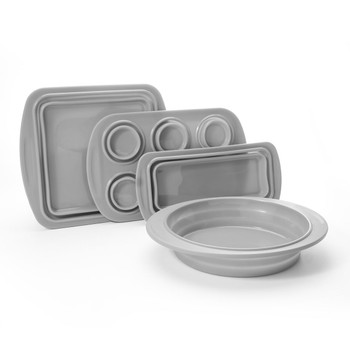 Cook's Companion¨ 4-Piece Collapsible Silicone Bakeware Set