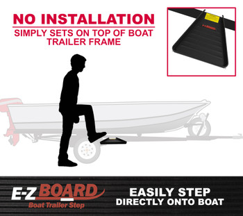 E-Z Board, Steel-Constructed Boat Trailer Step