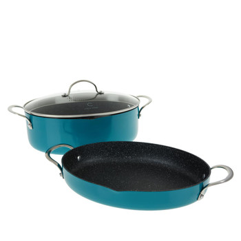Curtis Stone 3-piece Oval Cookware Set