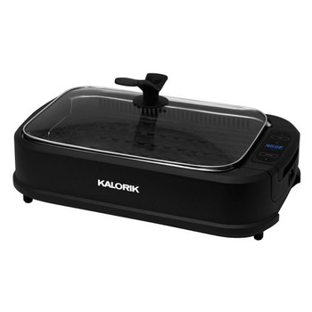 KALORIK INDOOR SMOKELESS GRILL, BLACK