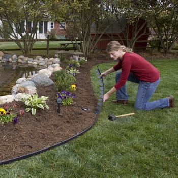 Easy-Flex 50 No-Dig Landscape Edging with Bonus Spikes