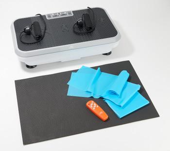 PowerFit Elite Vibration Platform with Exercise Bands & Mat