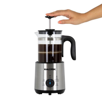 Kalorik Bartista 3-Cup Stainless Steel Electric French Press Coffee Maker  - Refurbished