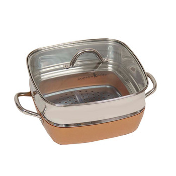 """Copper Chef 3"""" Square Extender Ring for the 11"""" Copper Chef Pan"""