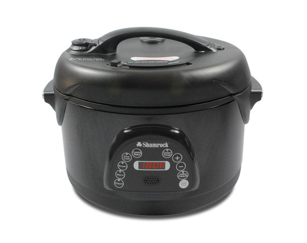 Shamrock 6.5 Qt Nonstick Pressure Cooker w/ Voice Command - Black