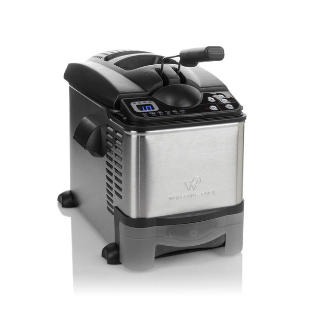 Wolfgang Puck 3.5 Liter Digital Stainless Steel Deep Fryer with on-board Oil Drain System