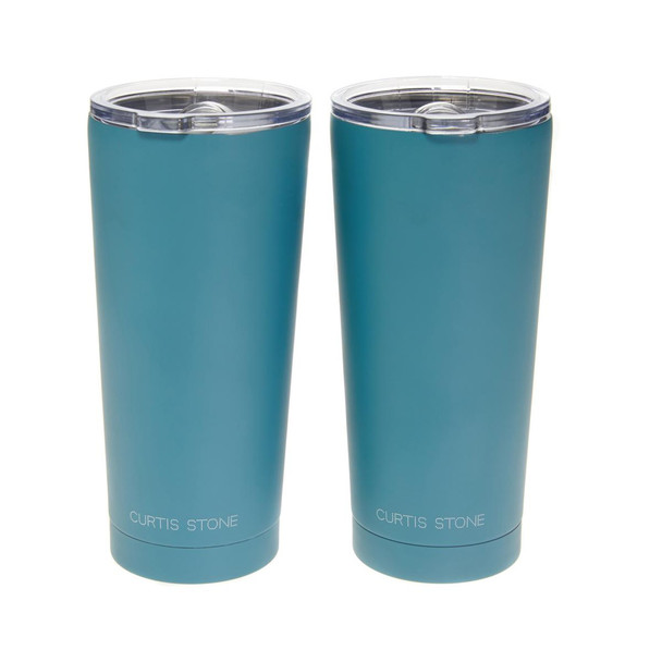 Curtis Stone Set of 2 18 oz. Double-Wall Insulated Tumblers