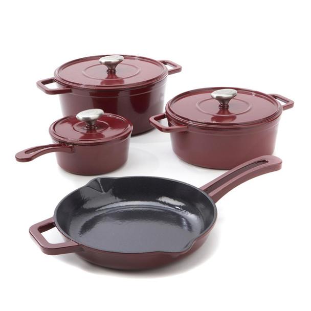 Michael Symon Home 7-piece Enameled Cast Iron Cookware Set Model 614-610