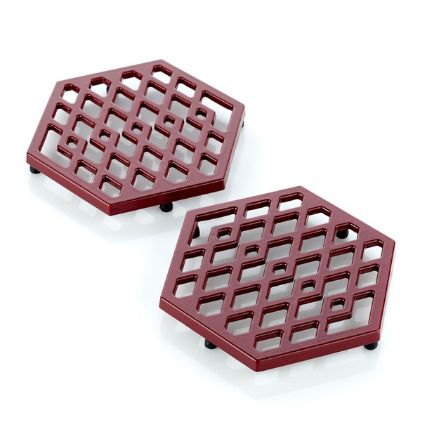 Michael Symon Home Set of 2 Cast Iron Trivets Model 614-930