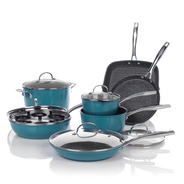 Curtis Stone DuraPan 13-piece Forged Nonstick Cookware Set with Recipes