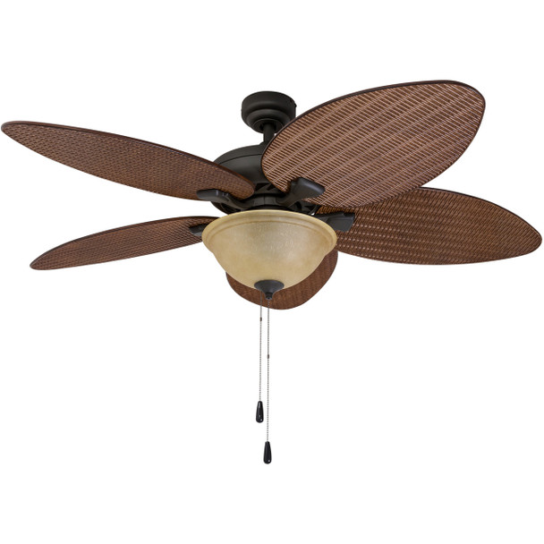 Prominence Home Ceiling Fan Palm Valley Tropical  Palm Leaf Blade Indoor/Outdoor