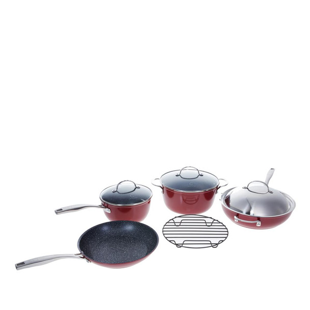Curtis Stone Dura-Pan Nonstick 8-piece Essential Cookware Set Model 615-402